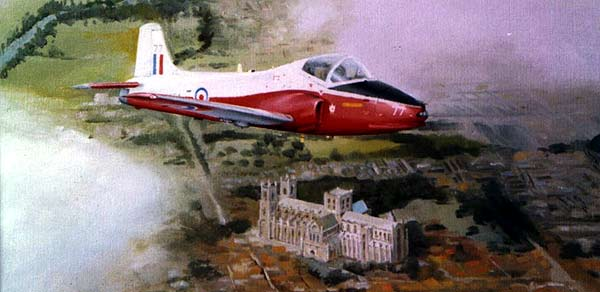 Jet Provost over York Minster